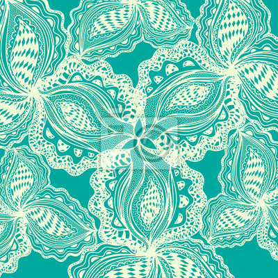 Résumé, floral, élément, décoratif, conception