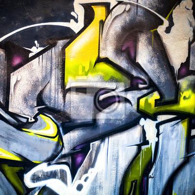 Résumé fragment graffiti moderne et coloré sur le mur de béton