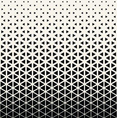 Sticker Résumé, géométrique, noir, blanc, graphique, conception, impression, demi-teinte, triangle, modèle