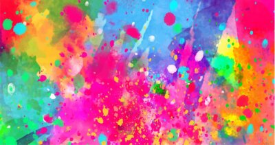 Sticker Résumé historique des taches de couleur des peintures