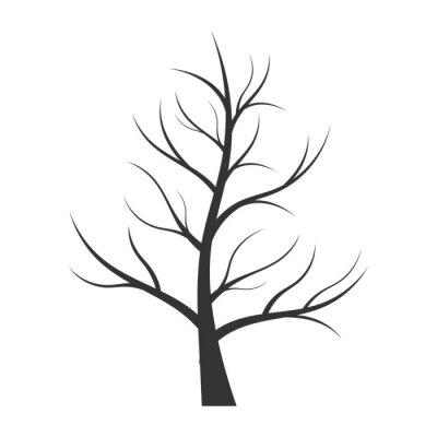 Sticker Résumé, Illustration, arbre, silhouette