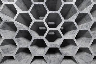 Résumé intérieur en béton gris avec une structure en nid d'abeille