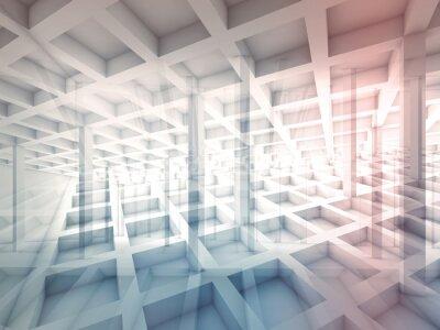 Sticker Résumé, intersecté, cellule, structures, 3D, illustration