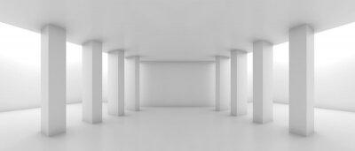 Résumé, large, corridor, perspective, colonnes