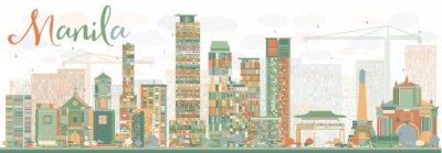 Sticker Résumé, manille, Horizon, couleur, bâtiments