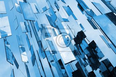 Résumé miroirs fond bleu au-dessus du ciel