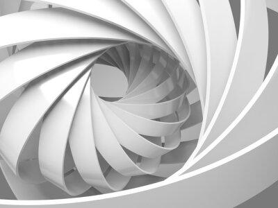 Sticker Résumé, numérique, fond, 3D, spirale, structure