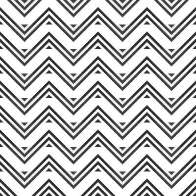 Sticker Résumé, seamless, modèle, gris, zigzag, blanc, fond