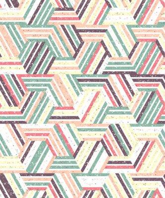 Sticker Résumé, seamless, modèle, plusieurs, triangles, rayures Texture de fond.