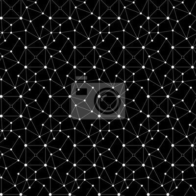 Sticker Résumé, seamless, modèle. Points, lignes et carrés