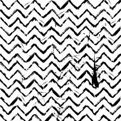 Sticker Résumé, seamless, zigzag, modèle, noir, blanc
