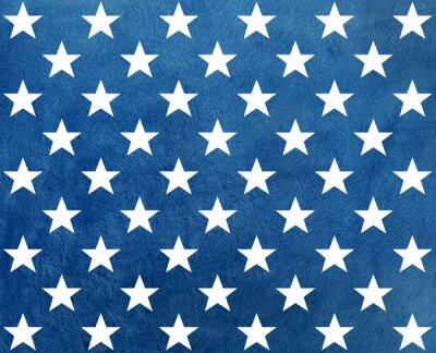 Sticker Résumé, sombre, bleu, aquarelle, modèle, blanc, étoiles