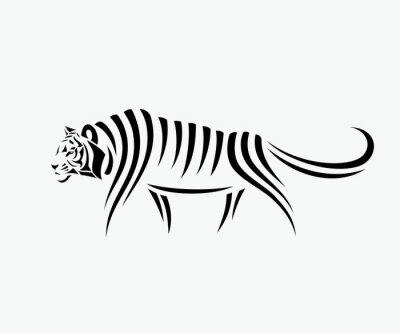 Sticker Résumé, tigre, illustration