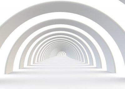 Sticker Résumé tunnel futuriste dans un style contemporain