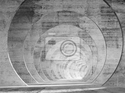 Résumé tunnel intérieur en béton vide avec perspective