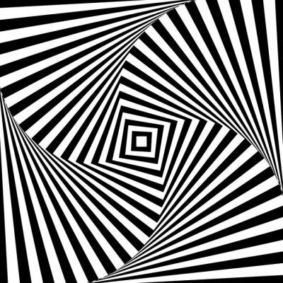 Sticker Résumé, vecteur, optique, illusion, noir, blanc