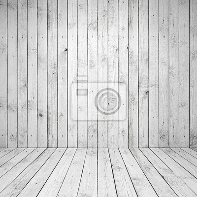 Résumé vide salle blanche intérieur avec mur en bois