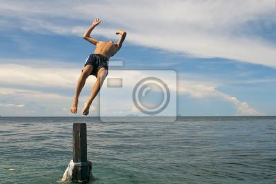 Retour en plongée Turquoise tropicale polynésienne Paradise Beach