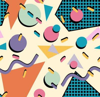 Sticker Rétro 80s seamless fond