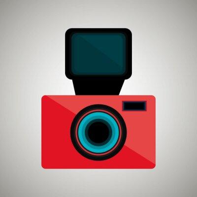 Sticker Rétro appareil photo design