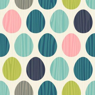Sticker Retro, couleur, vecteur, seamless, Pâques, oeuf, modèle