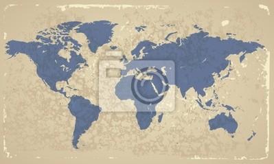 Retro-disant Carte du monde