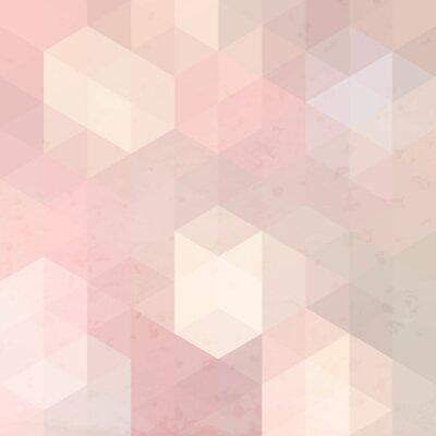 Sticker Rétro fond géométrique avec grunge texture