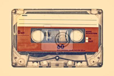 Sticker Rétro image de style d'une vieille cassette compacte