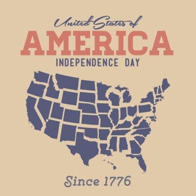 Sticker Rétro Jour de l'Indépendance Connexion