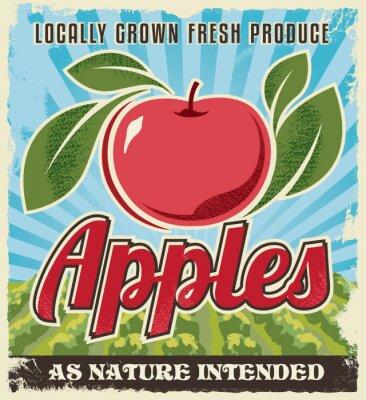 Sticker Rétro vintage pomme étiquette