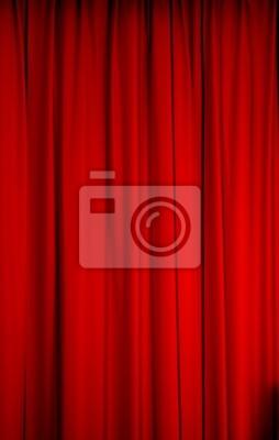 Sticker: Rideau scène spectacle théatre concert cabaret salle velours