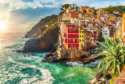 Sticker Riomaggiore, Cinque Terre, Italie