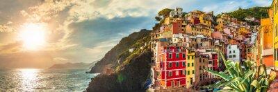 Sticker Riomaggiore panorama, Cinque Terre, Italie
