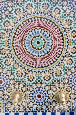 Sticker Robinet d'eau de style marocain avec mosaïque détaillée