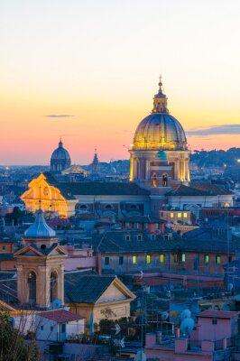 Sticker Roma panorama de la Villa Borghese