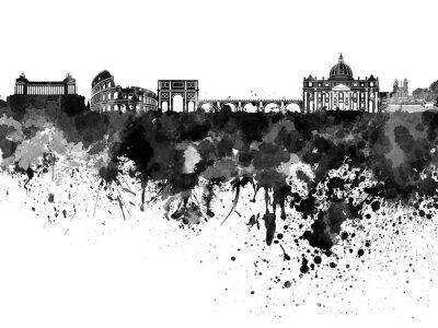 Sticker Rome, Horizon, noir, aquarelle