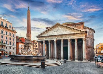 Sticker Rome - Panthéon, personne
