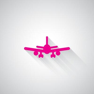 Sticker Rose, avion, toile, icône, lumière, gris, fond