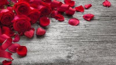 Sticker Roses, bois, planche