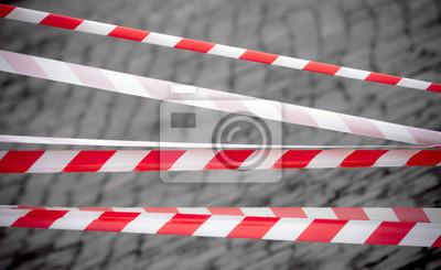 Rouge et bandes rayées blanches. Espace réservé frontière