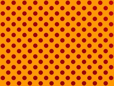 Sticker Rouge, polka, point, orange, fond