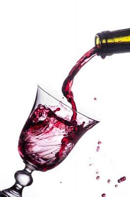Sticker rouge splash vin