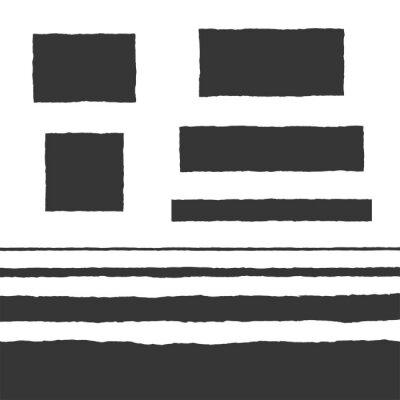 Sticker Rough Edge Text Box Shape Vector Flat Backgrounds Set