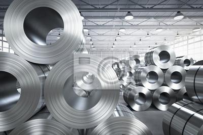 Sticker Rouleau de tôle d'acier en usine