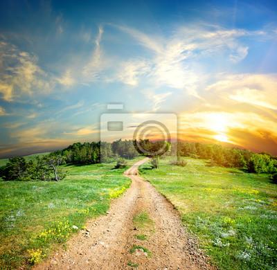 Route de campagne dans les montagnes