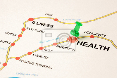 Sticker route de santé