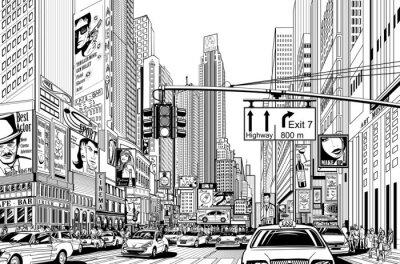 Sticker rue dans la ville de New York