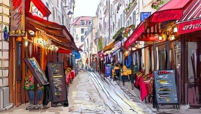 Sticker Rue de Paris - illustration