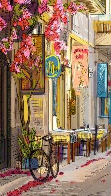 Sticker Rue de Rome - illustration
