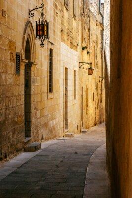Sticker Rue étroite antique à Mdina Malte